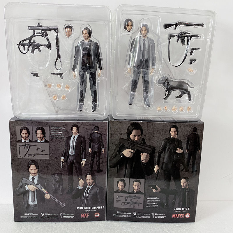 15cm New Type Mafex 085 JOHN WICK Chapter 2 Action Figure Model Toy Doll Gift