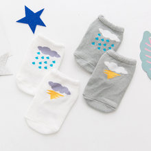 New Asymmetry Cartoon Cotton Baby Anti Slip Foot Cover Socks Children Boat Baby Kids NewBorn Boy Girl Sock Boots For 0-24 Month(China)