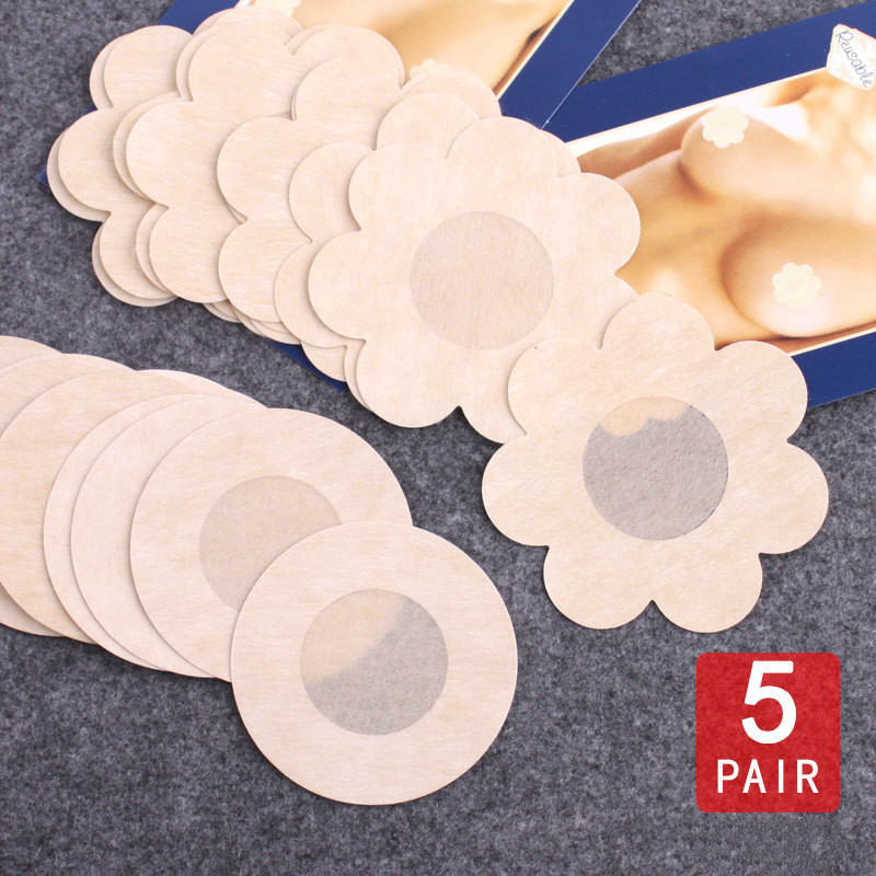 Bikini 10pcs Invisible Silicone Breast Pads Boob Lift Tape Bra Lifting Chest Nipple Cover Sticker Pad Swimwear Women Swimsuit -7