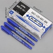 10 pces cabeça dupla marcadores oleosos escova caneta não-apagável à prova dnágua esboço baseado n7ma