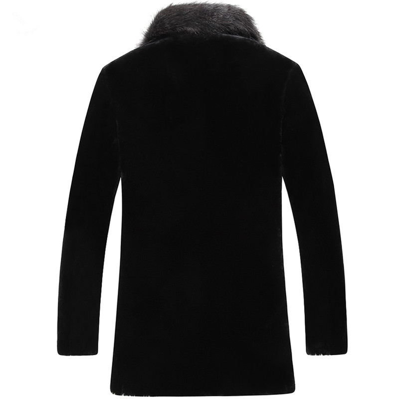 100% Wool Coat Sheep Shearling Fur Coat Winter Jacket Men Raccoon Fur Collar Long Coats Men Jacket LSY080870 MY1133