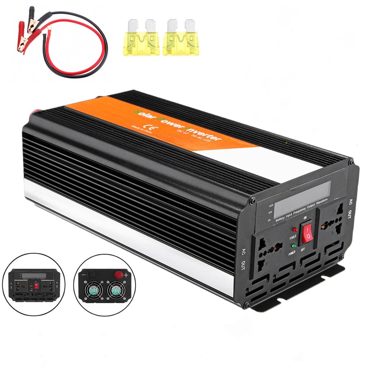 3000 Вт высокой мощности Мощность инвертор Модифицированная синусоида Инвертор DC/AC 12/24V дo AC 110/220V Напряжение трансформатор ЖК дисплей Дисплей автомобильный Солнечный Мощность инвертор