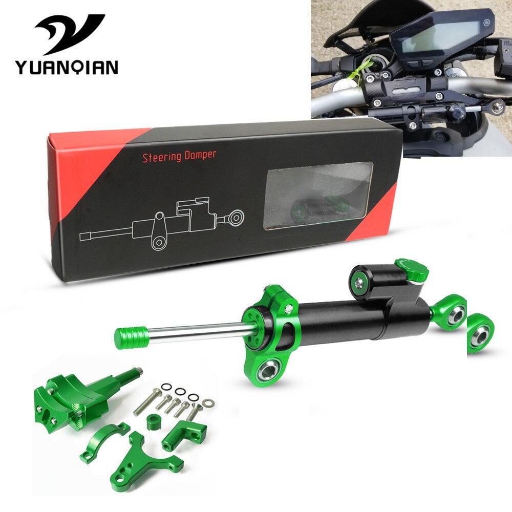 Moto accessoires réglable CNC moto direction stabiliser amortisseur support de montage Kit pour kawasaki ninja 400 2018-2019