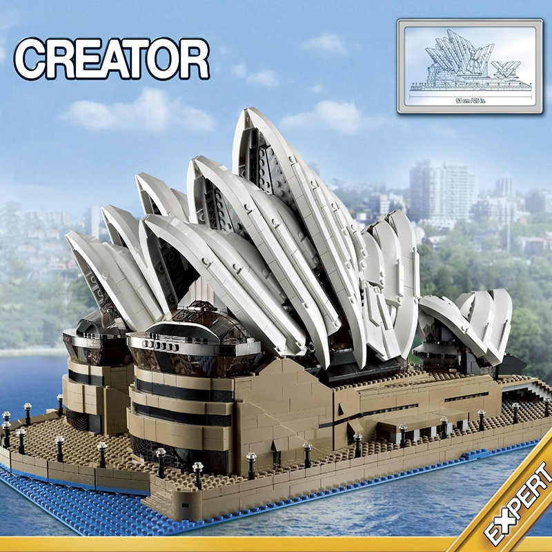 88003 Expert Set Creator <font><b>Sydney</b></font> Opera House Compatible lepinglys 10234 Building Blocks Bricks Birthday christmas gifts toys image