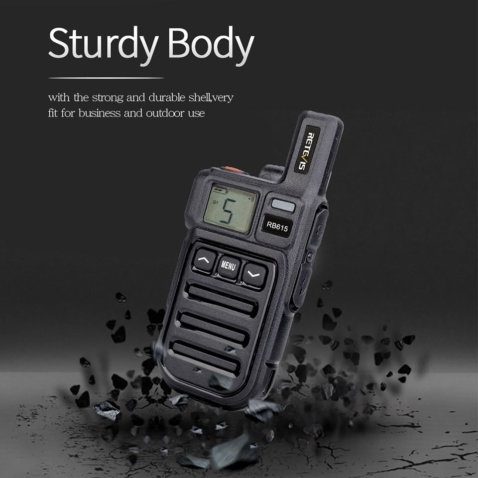Walkie Talkie 6pcs Retevis RB615 RB15 Mini PMR Radio PMR446 VOX Handsfree Two-way Radio Vibration Reminder Wireless Cloning
