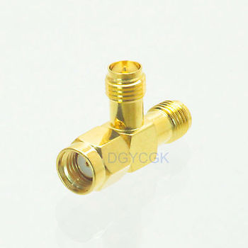 DHL/EMS 50 pc Conversion Adapter RP.SMA male to 2 RP*SMA female edge connector for Antenna -h2