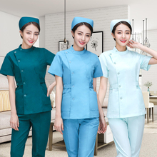 Nurses wear separate suits oral and dental cosmetology overalls hand washing clothes hospital emergency isolation clothing