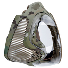 1PC Dual Mode Combat Mask Outdoor Game Mask Gear Steel Screen Protective Mask for Man (Camouflage)