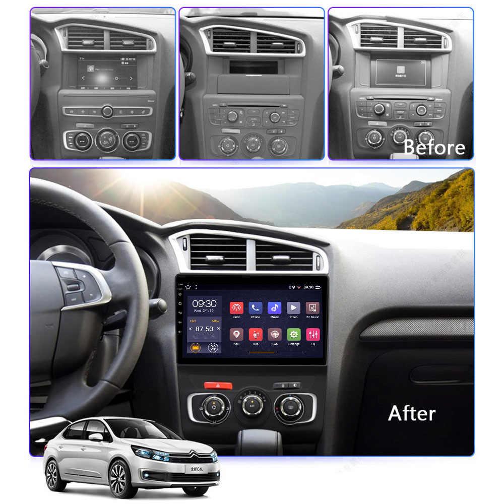 車の dvd マルチメディアシトロエン c4 C4l ラジオコシェ 2013 2014 2015 2016 2017 2 グラム 32 グラム 8 コア 1din アンドロイド autoradio carplay GPS ナビ