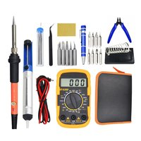 16PCS 110V/220V Electric Soldering Iron Kit 60W Soldering Iron kit With Multimeter Desoldeirng Pump Welding Tool|Electric Soldering Irons|   -