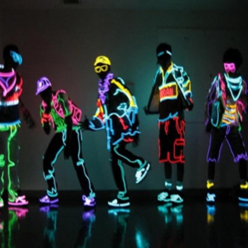 3m 3V Flexible Neon Light Glow EL Wire Rope Tape Cable Strip LED Neon Lights Shoes Clothing Car Waterproof Led Strip New