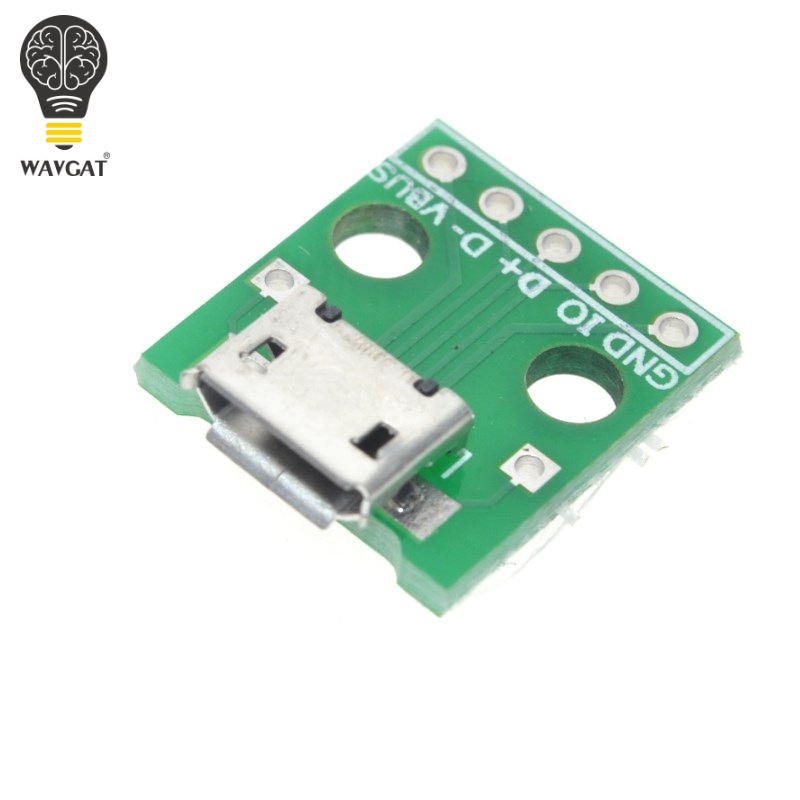 10 Pcs MICRO USB To DIP Adapter 5pin Female Connector B Type Pcb Converter Pinboard 2.54
