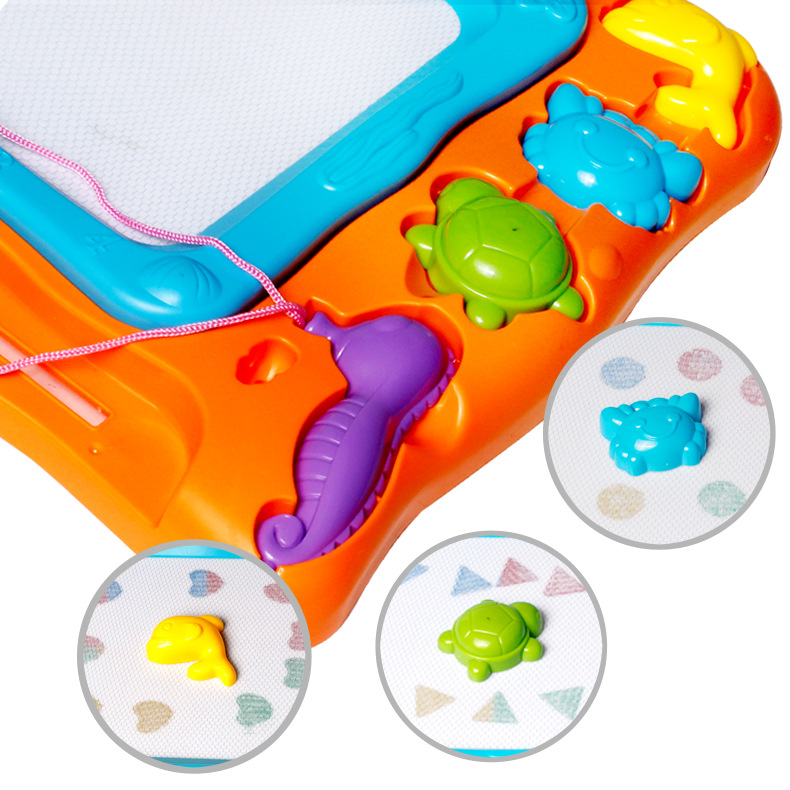 Children'S Educational Toy Plastic Magnetic Color Sketchpad Stamp Graffiti Children Writing Board Toy
