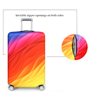 Image 3 - Thick Elastic Geometric Luggage Protective Cover Fashion Trolley Case For Suitcase Cover Baggage Travel Bag Cases 273