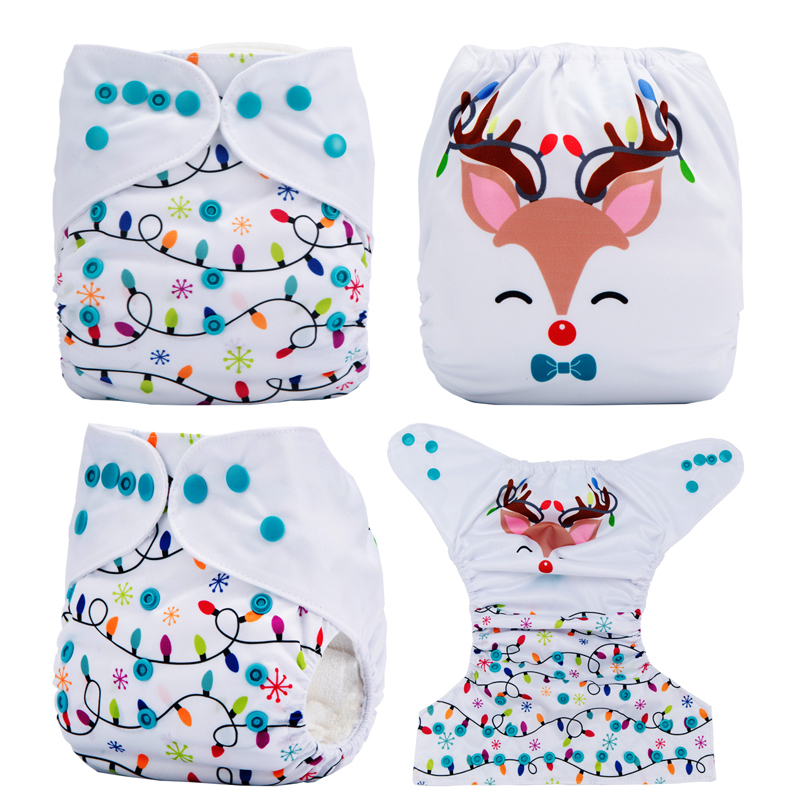 New Disfraz Halloween Bebe Cloth Diapers Christmas Baby Diaper Nappies Pocket Diaper (No Insert)