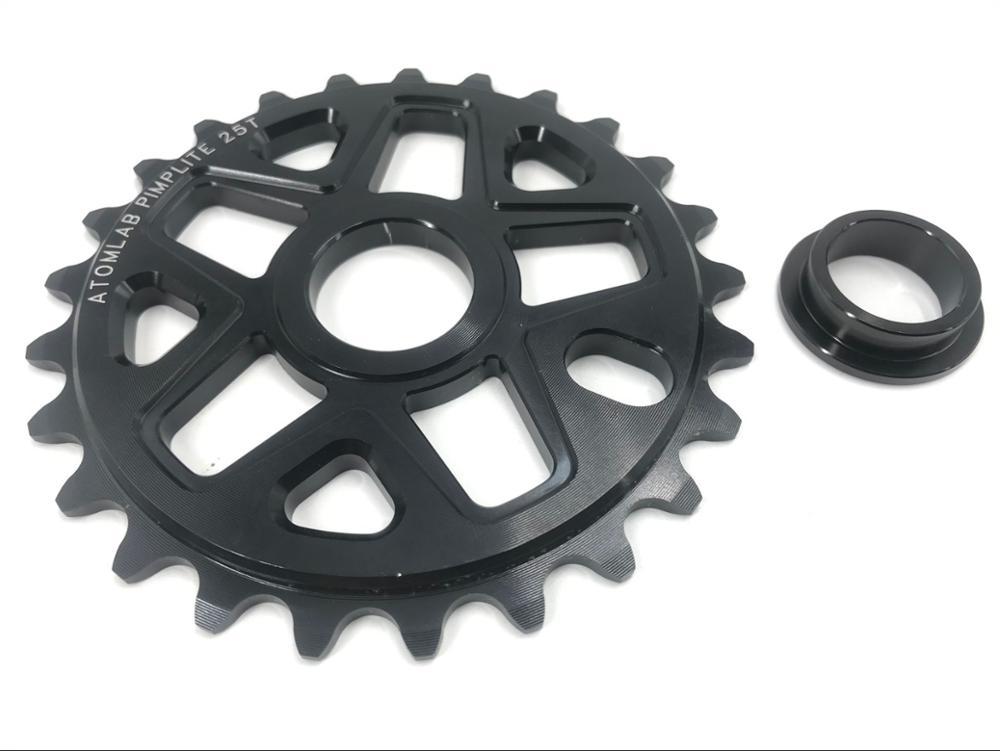Roda dentada bmx do atomlad 25 t completo cnc 7075-t6 rodas dentadas bmx feito em taiwan 19mm adaptador incluído