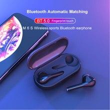 M6s twsワイヤレスヘッドフォンタッチコントロールin 耳bluetoothイヤホンスポーツヘッドセット防水イヤフォンステレオ音楽ヘッドフォン