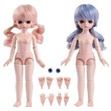 UCanaan 1/6 BJD Обнаженная Кукла тело с макияжем 1 парик/глазное яблоко/4 руки жест Куклы Аксессуары для девочек наряд игрушки