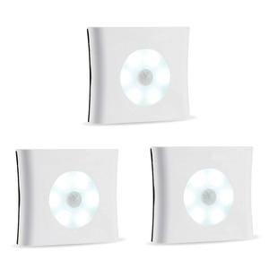 Image 3 - 新6led赤外線pirモーションセンサキャビネットライトワイヤレス検出器壁ランプ自動オン/オフクローゼ寝室の照明