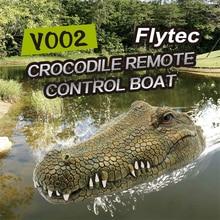 Flytec V002 моделирование головы крокодила RC лодка 2,4 г дистанционное управление электрические игрушки 15 км/ч скорость головы крокодила пародия игрушка