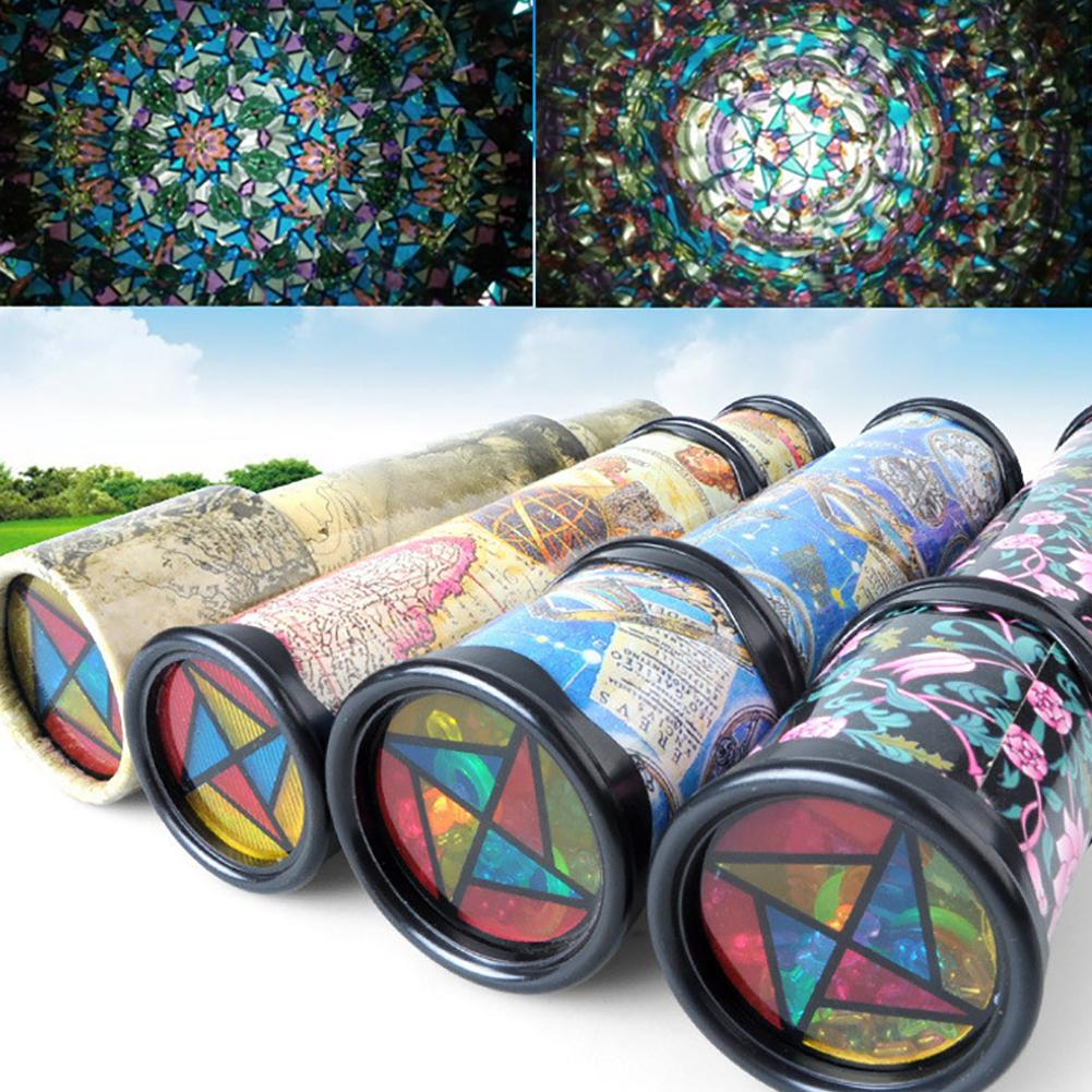 Rotatable Kaleidoscope Kids Children Educational Science Toy Birthday Gift New