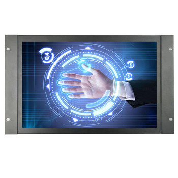 ZHIXIANDA Metal case HDMI VGA BNC AV USB input 17.3 inch 1920*1080 open frame  Capacitive touch screen monitor Built-in speaker