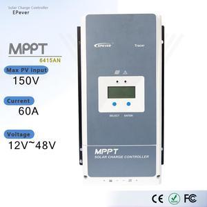 EPever Tracer6415AN 60A Контроллер заряда солнечной батареи MPPT 12 В 24 в 36 в 48 в авто для макс. 150 в регулятор входной панели солнечной батареи с MT50