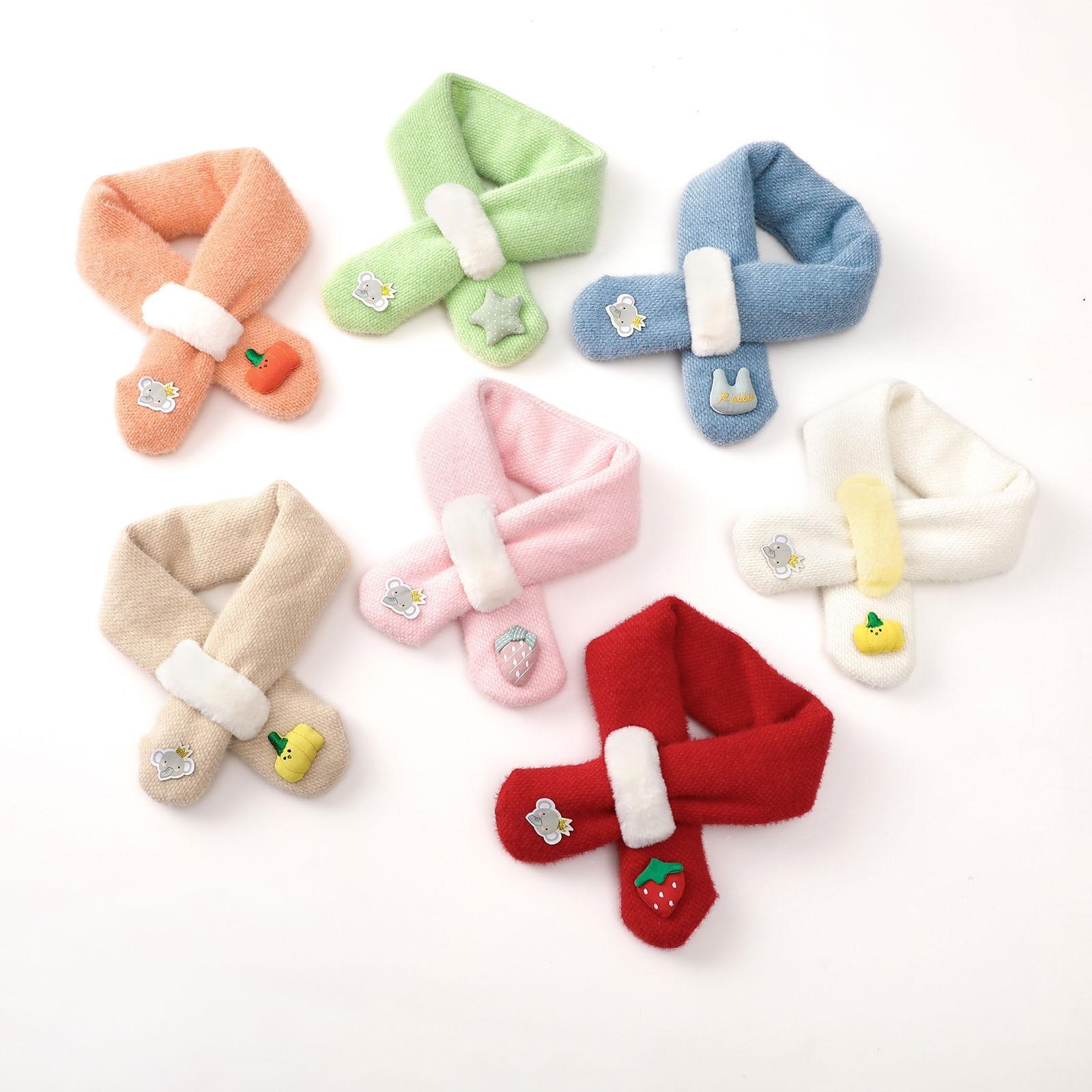 Scarves Children Winter Cute Scarf Warm Scarf Neck Warmer for Toddlers Boys Girls szalik Шарфы и маски