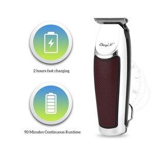 Image 4 - USB מקצועי שיער גוזז חשמלי שיער גוזם אלחוטי שיער מכונת חיתוך גברים זקן גוזם מכונת גילוח תספורת קליפר
