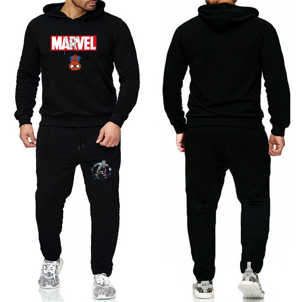 Hot Sales Hot Selling Fashion Casual Fleece Printed MEN'S Hoodie Sweatpants Set
