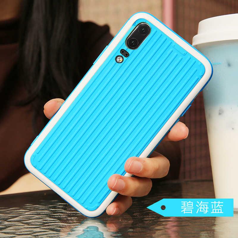 Gebogene Koffer Coque, abdeckung, fall, für HuaWei P20 Lite P20pro Pro Nova 3E Auf Harte Silikon Silicon 3D Luxus telefon zurück Fällen