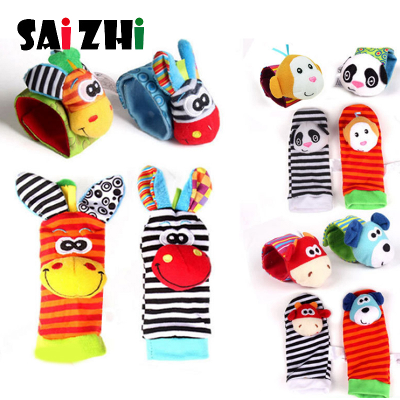 Saizhi Infant Baby Kids Rattle Baby Toys 0-12 Months Wrist Rattle And Foot Sock Educational Toys Christmas Gifts For Kids