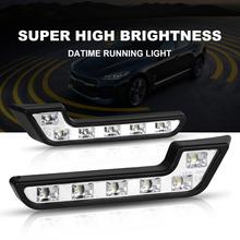 2 sztuk 6LED uniwersalny lampa do jazdy samochodem światła dzienne wodoodporna oszczędność energii IP65 w kształcie litery L Auto światło przeciwmgielne akcesoria samochodowe tanie tanio CN (pochodzenie) Do światła dziennego 12 v WHITE L Shaped