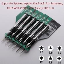precision screwdriver set tox 5-star point 0.8/Pentalobe 1.2 T2 T5 TOOLS kit FOR iphone7/8/x/xr/xs max Apple Macbook Air Samsung