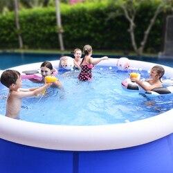 Piscina inflable de Soporte redondo de verano para Familia, piscina grande de PVC para exteriores, piscina para niños y adultos