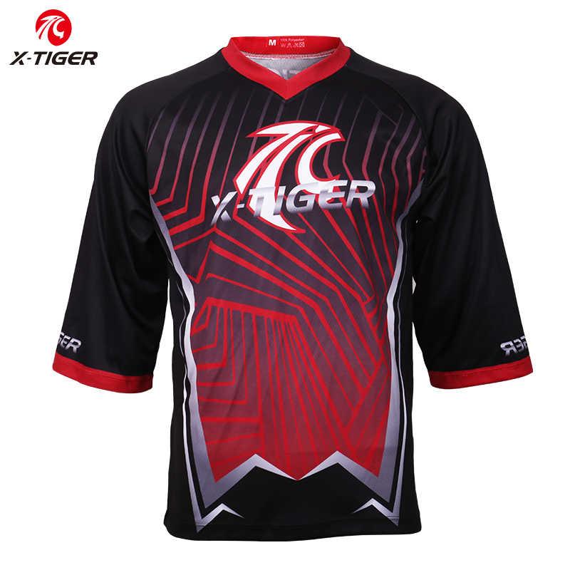 X-tiger Pro koszulka zjazdowa szybkoschnąca koszulka Motocross MTB rowerowa koszulka kolarska DH letnia jesień górska rowerowa koszulka rowerowa