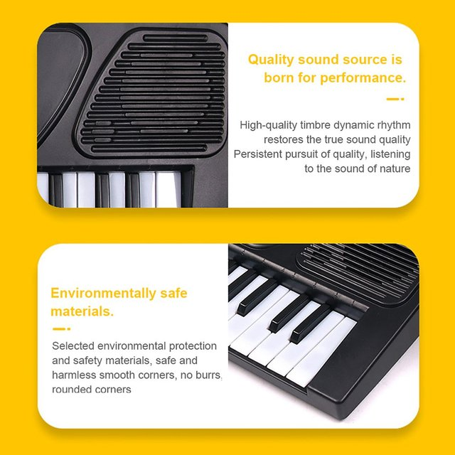 37 Key Baby Piano Children Keyboard Electric Piano Musical Instrument Toy 37-key Electronic Piano Toy 2