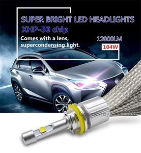 Image 2 - 2 uds H7 H4 bombillas LED 20000LM XHP50 Chips 110W 4300K 6000K de la linterna del coche 9005 HB3 H1 H11 D2S 9004 H13 H27 880 automóvil lámpara de la niebla