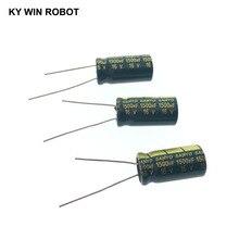 10 шт., электролитные конденсаторы, 1500 мкФ 16V 10x20 мм 105C радиальные высокочастотный низкое сопротивление электролитический конденсатор с алюминиевой крышкой