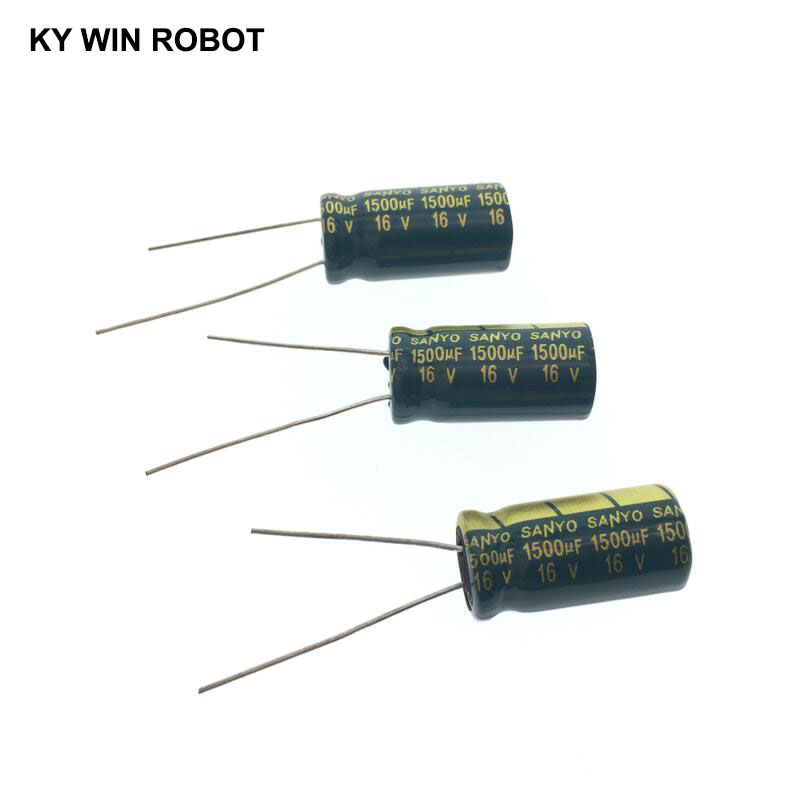 10pcs Electrolytic Capacitors 1500UF 16V 10x20mm 105C Radial High-frequency Low Resistance Electrolytic Capacitor