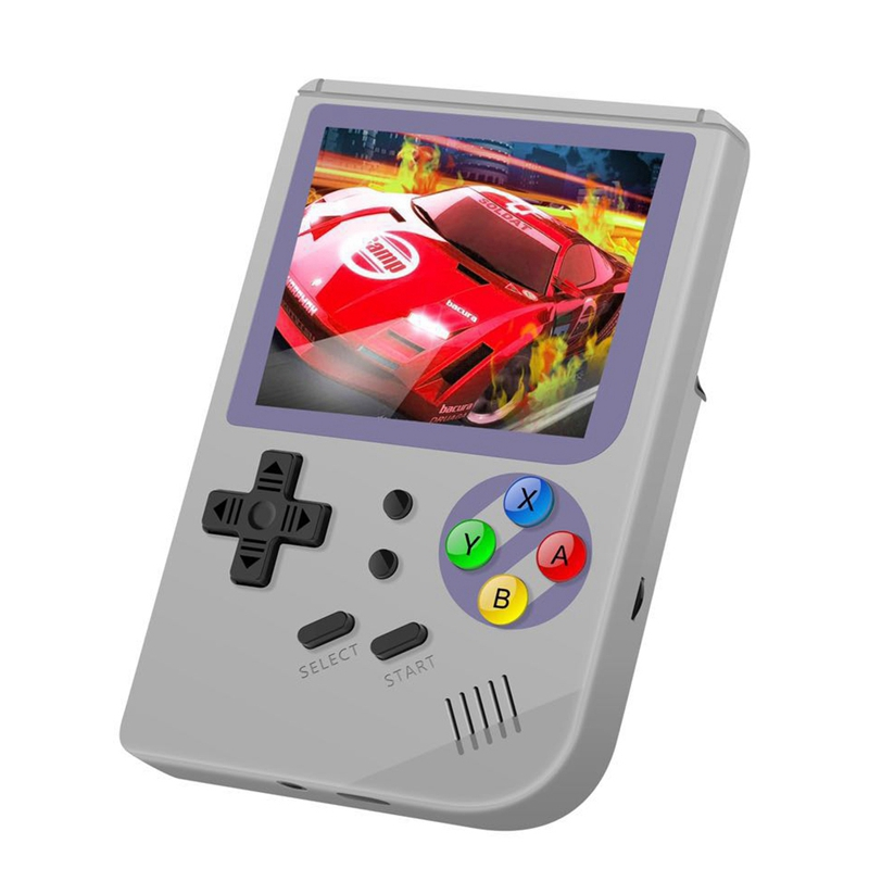 Rg300 3 Inch Video Games Retro Console Build-In 3000 Games Handheld for Cp1 Cp2 Neogeo  Gbc Gb  Md Open System Gray