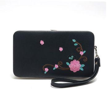 Women Clutch Pu Leather Wallet Long Card Holder Phone Bag Case Purse Lady Handbags /BY
