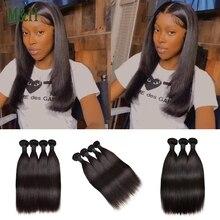 M&H Brazilian Straight Human Hair Weave Bundles Natural Color Bone Straight Hair Unprocessed Virgin Human Hair Extensions