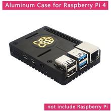 Ahududu Pi 4 alüminyum alaşımlı kasa Ultra ince CNC Metal kabuk pasif soğutma siyah muhafaza kutusu ahududu Pi için 4 Model B