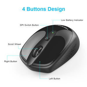 Image 4 - TeckNet Omni Mini Mouse Computer Wireless Mouse with USB Receiver 2.4GHz Chic Mice 1 Battery Adjustable 1600DPI Mice For Laptop