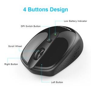 Image 4 - TeckNet Omni Mini mysz komputerowa bezprzewodowa mysz z odbiornikiem USB 2.4GHz Chic myszy 1 bateria regulowana 1600 myszy DPI na laptopa