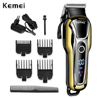 Kemei clipper Professional hair Trimmer สำหรับชายเคราตัดผมเครื่องตัดผมไร้สาย corded 5