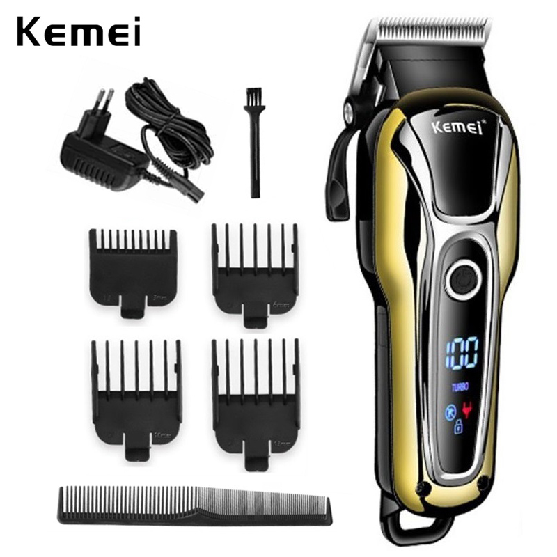 Kemei Hair Clipper Professional Hair Trimmer For Men Beard Electric Cutter Hair Cutting Machine Haircut Cordless Corded 5