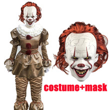 Film chaud Stephen King's It Pennywise Cosplay Costume effrayant Joker Costume fait sur commande fantaisie Halloween mascarade fête Prop(China)