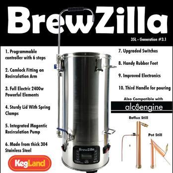 BREWZILLA 35L - GEN.3.1 - HOME BREW ALL IN ONE